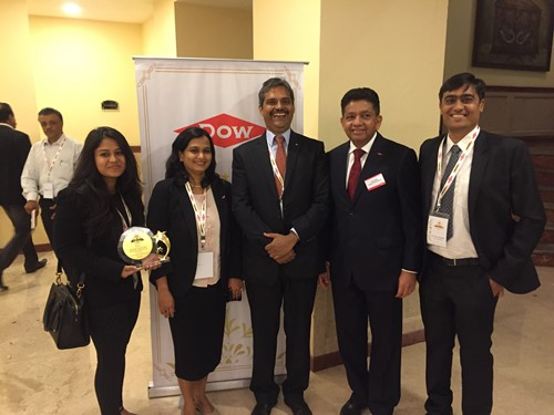 The Pearl Honor for exemplary business practices by Dow Chemical Tricon team picture