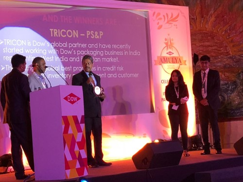 The Pearl Honor for exemplary business practices by Dow Chemical Tricon speech